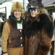 Beaver And Black Bear Coat Wolf Headdress