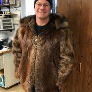 Beaver Coat With Wolf Wolverine Ruff