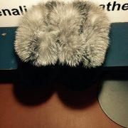 Black Sheared Beaver With Fox Trim $135