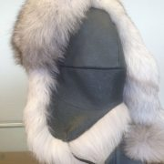 Blue Fox With Gray Leather $250