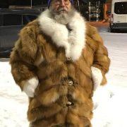 Red Fox With Arctic Fox Trim Santa Coat